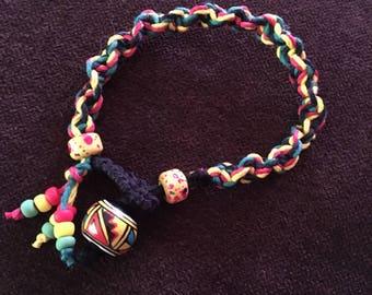 Rasta hemp bracelet