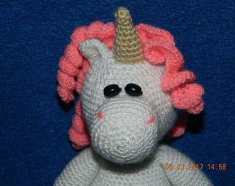Unicorn, knitted toy