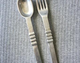 Cast Aluminium Fork and Spoon Set Salad Set