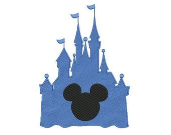 Disney embroidery design - Disney Castle embroidery - Mickey mouse design - Minnie mouse design - Castle - Machine embroidery design