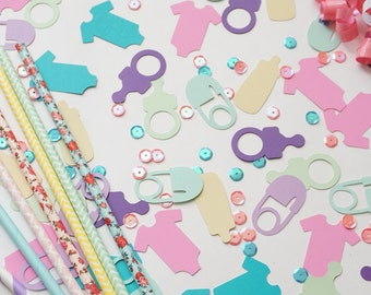 Baby Shower Confetti, Baby Shower Combo Confetti, Baby Shower Party Decor, Confetti, Party Decorations, Party Supplies, Table Confetti