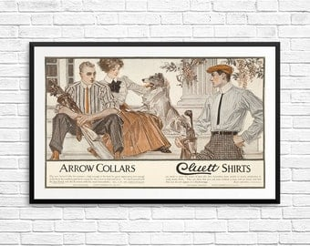 Vintage ads, vintage shirts, vintage shirt ads, arrow shirts, antique ads, vintage ad posters, advertising posters, vintage advertising, art
