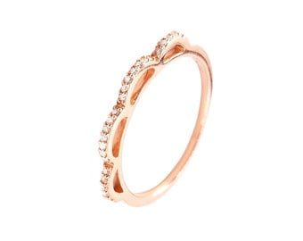 fine diamonds rose gold wedding ring