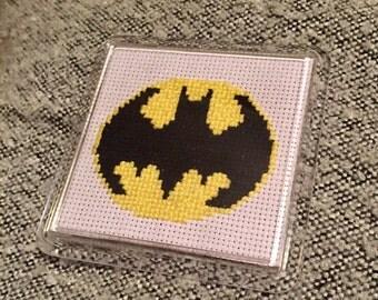Batman Coaster - DC - Batman - Cross Stitch Coaster