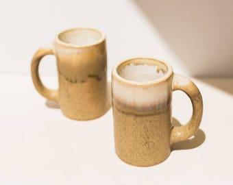 Roldolfo Padilla Mugs, Vintage Mugs, bohemian decor, vintage pottery, Pottery, Vase, Midcentury Modern