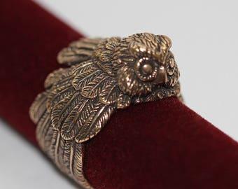Owl ring Owl jewelry Bird jewelry Owls Birds Owl bird ring Mens statement ring Animal ring Animal jewelry