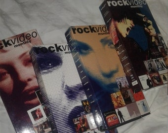 5 VHS Rock Video Monthly~and one Pink Floyd VHS The Wall~ Ships FAST and free!!