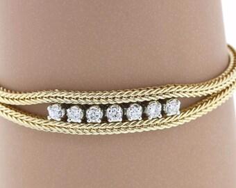 Vintage 14K Yellow Gold 0.75 CTW Ladies Diamond Bracelet - 15.3 Grams