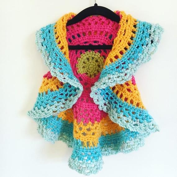 Age 12-18 months Crochet Mandala vest crochet circle vest