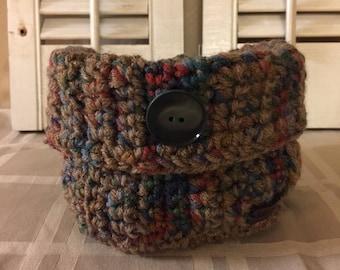 Square crocheted storage basket / Housewarming Gift / Graduation / Home Decor/ Catch All Basket