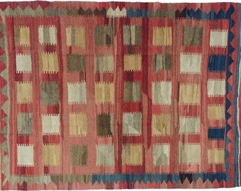Persian Handknotted Vintage Qashqai Kilim 236x180cm