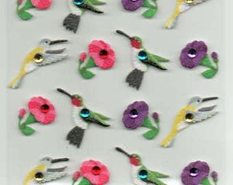 Hummingbirds Spring Garden Jolee's Boutique Scrapbook Stickers Embellishments Cardmaking Crafts