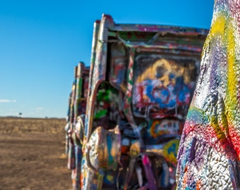 Layers at Cadillac Ranch  Fine Art Print, Route 66, Texas Photograph, Landmark, Amarillo