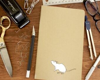 Curious rat notebook - Journal - Sketchbook