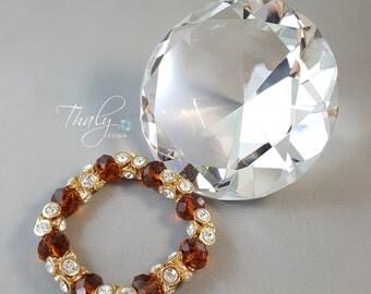 Fancy Gold and Amber Bracelet