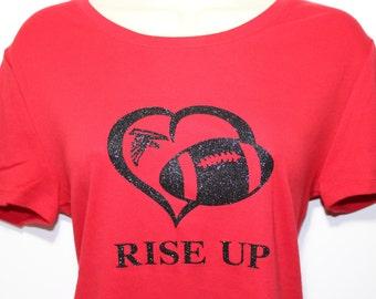 Atlanta Falcons Rise Up Tee - Glitter images!!!