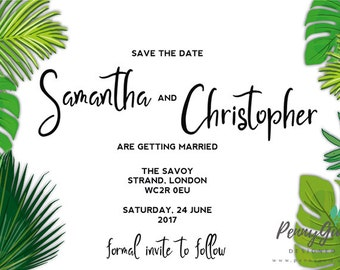 DIY Printable Wedding Stationery Set, Editable PDF – Green Gabby