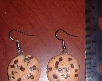 Chocolate Chip Cookie Polymer Clay Earrings