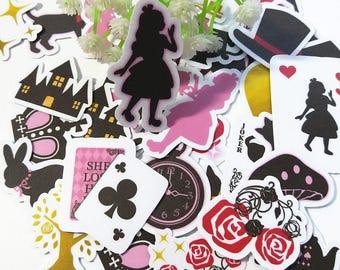 36pcs  Alice's Dream- Japanese scrapbooking stickers,scrapbooking,decorative stickers, japanese stickers,decor stickers,kawaii stickers
