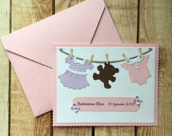 Christening invitation card