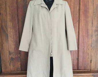 Vintage Club Monaco light coat, khaki, with zany lining.  Size medium
