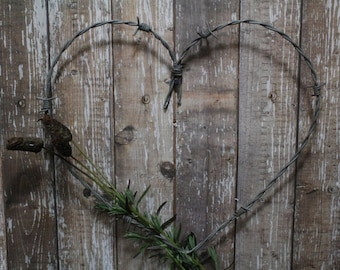 Reclaimed Barbed Wire Heart *Valentines Day*Wedding*Anniversary*