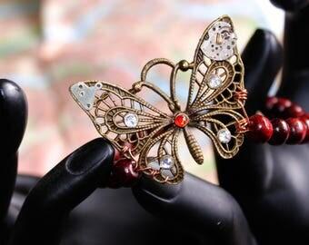 Steampunk Butterfly Bracelet