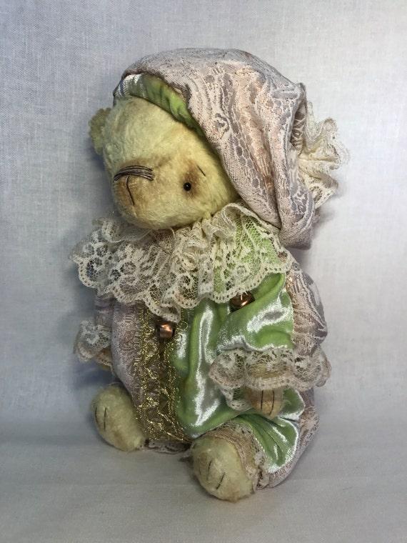 "Handmade OOAK artist teddy bear "" Beartalucci"". Handmade, collectible toy."