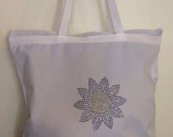 Flower Rhinestone Bag