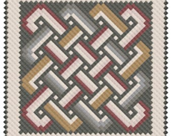 Antioch Mosaic Knotwork (PDF) Cross Stitch Pattern