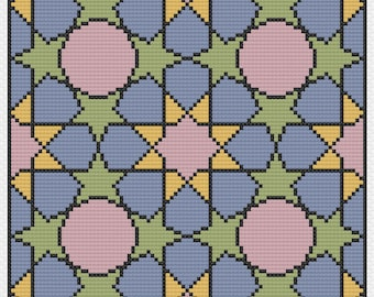 Petals & Stars (PDF) Cross Stitch Pattern