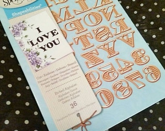 Spellbinders Shapeabilities Detailed Cutting Templates S5-239 Etched Alphabet