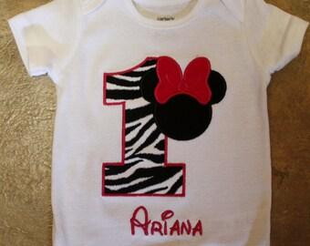 Zebra Minnie Mouse