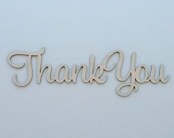 Thank You sign Natural Birch, Table Sign, Reception Table Sign, DIY Wedding Signs