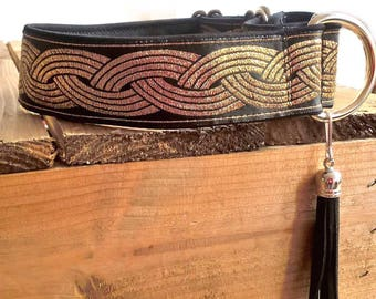 """Martingale Collar - for Greyhounds, Whippet,  Saluki, Lurcher type dogs - 35mm wide, up to 15"""" neck"""