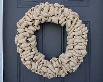 Natural Burlap Wreath