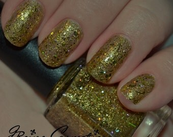 Crown Me - Gold Holographic Glitter Nail Polish LIMITED EDITION