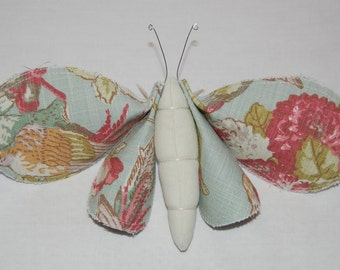 Beautiful Vintage Inspired Fabric Art Moth