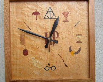 Harry Potter  Marquetry Clock
