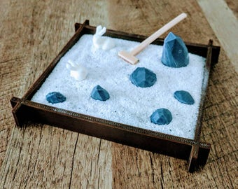3D printed Sand and Rock Stress Garden!