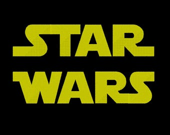 4 Sizes Star Wars Font Embroidery Fonts BX Embroidery Fonts PES Alphabets Digital Machine Embroidery Instant Download