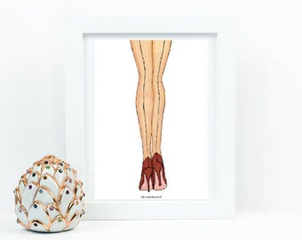 Legs Vintage Style Fashion Illustration Artwork - Instant Digital Download