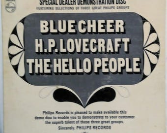 Blue Cheer Hello People H.P. Lovecraft V/A Psych Rock Lp Philips Dealer Demo Record