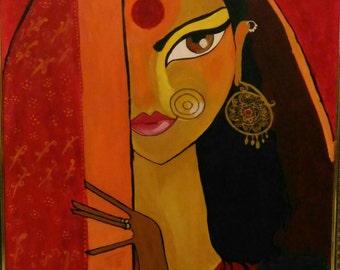Elegant lady in ghunghat