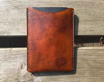 Leather notebook sleeve