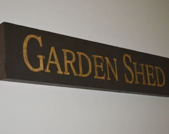 Rustic Wooden Garden Shed Sign Country Decor Rustic Garden Art Garden Shed Decoration Potting Shed Yard Art Gift for Gardener