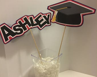 graduation decorations, high school graduation, personalized graduation decorations, personalized centerpiece, customized centerpiece