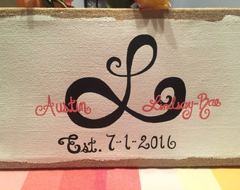 Painted Canvas Wedding Guestbook