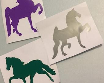 Large Vinyl Horse Stickers (Saddlebred, Saddleseat, Morgan Horse, Arabian Horse, Fresian)
