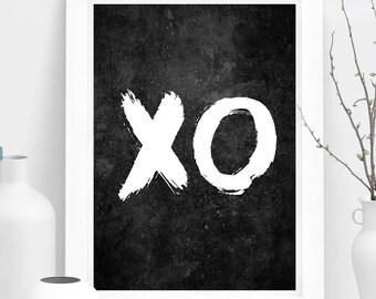 XO Minimalist Print, Beyonce Love, Bedroom Wall Art, Birthday, Present, 2017, Home Decor, Poster Print, Black & White, Art